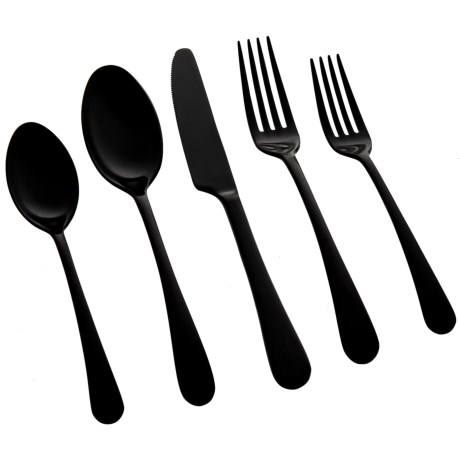 Satin Gunmetal Flatware Set - 20-Piece