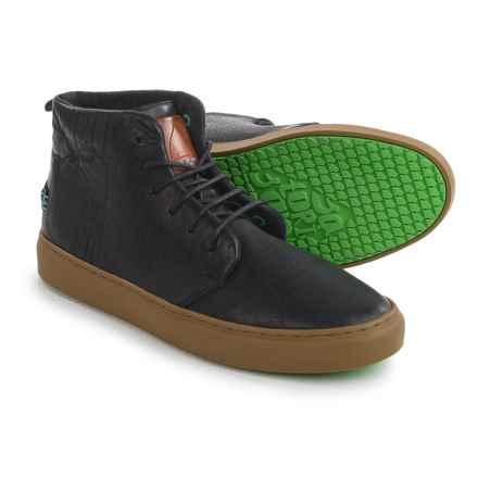 Satorisan Bywater Leather Sneakers (For Men) in Black - Closeouts