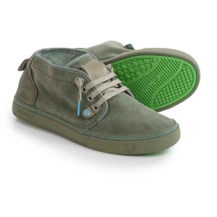 Satorisan Yasuragi Sneakers - Suede (For Men) in Army Green - Closeouts