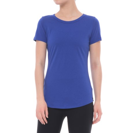 Satva Bianca Shirt - Organic Cotton, Short Sleeve (For Women) in Iris