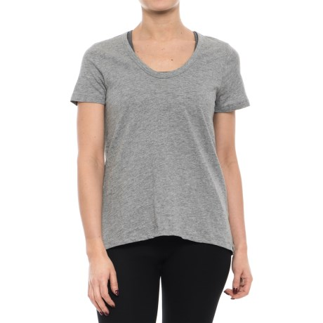 Satva Charlotte T-Shirt - Organic Cotton, Short Sleeve (For Women) in Heather Grey