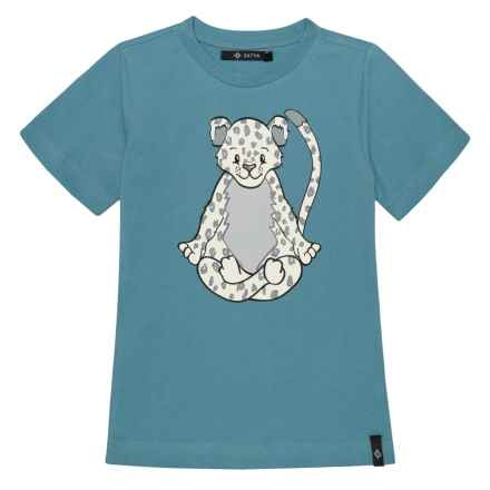 Satva Graphic T-Shirt - Short Sleeve (For Toddler Girls) in Denim - Closeouts