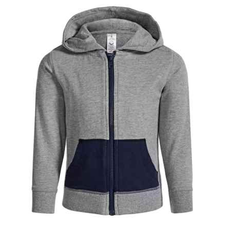 Satva Himani Front-Zip Hoodie - Organic Cotton (For Toddler Girls) in Heather Grey - Closeouts