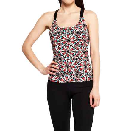 Satva Kala Racerback Tank Top - Organic Cotton (For Women) in Exotic Flo Prnt - Closeouts