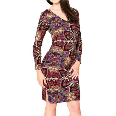 Satva Kanti Dress - Organic Cotton-Modal, Long Sleeve (For Women) in Exotic Scarf - Closeouts