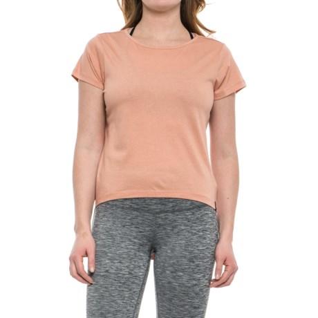 Satva Madison T-Shirt - Organic Cotton-Modal, Short Sleeve (For Women) in Apricot