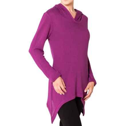 Satva Malti Sharkbite Hoodie - Organic Cotton (For Women) in Purple Wine - Closeouts