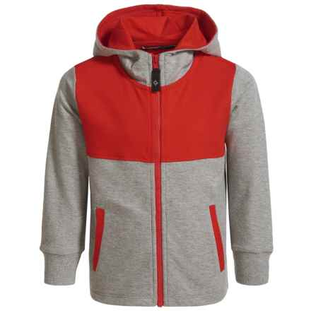 Satva Organic Cotton-Modal Color-Block Hoodie (For Toddler Girls) in Gray - Closeouts
