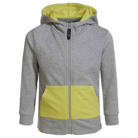 Satva Organic Cotton-Modal Playtime Hoodie (For Toddler Girls) in Heather Grey - Closeouts