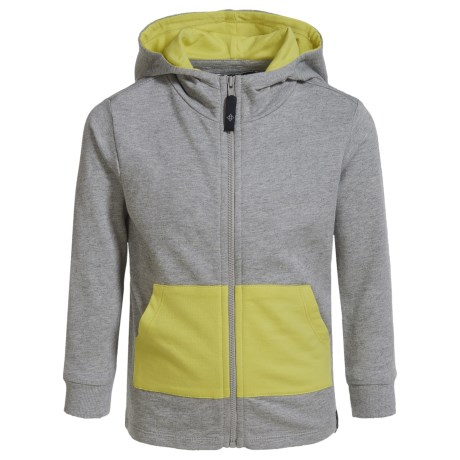 Satva Organic Cotton-Modal Playtime Hoodie (For Toddler Girls) in Heather Grey