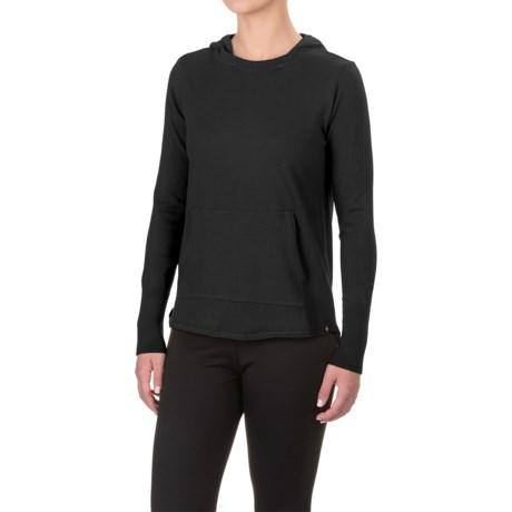Satva Reva Hooded Sweater - Organic Cotton (For Women) in Black