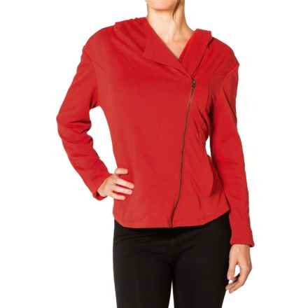 Satva Sitara Hoodie - Organic Cotton-Modal, Full Zip (For Women) in Molten Lava - Closeouts