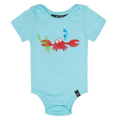 Satva The Onezie Baby Bodysuit - Organic Cotton, Short Sleeve (For Infants) in Bright Sky