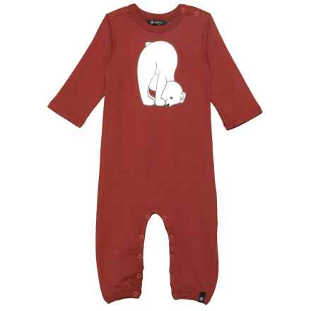 Satva The Romper Baby Bodysuit - Organic Cotton, Long Sleeve (For Infants) in Burgandy - Closeouts