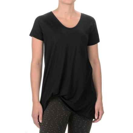 Satva Whisper T-Shirt - Organic Cotton, Short Sleeve (For Women) in Black - Closeouts
