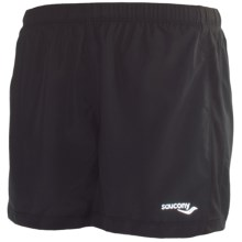 Saucony 2-1 Run Shorts - Built-In Brief (For Women) in Black - Closeouts