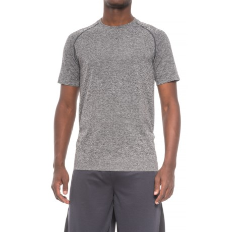 Saucony Active Solid T-Shirt - Seamless Sides, Short Sleeve (For Men) in Grey