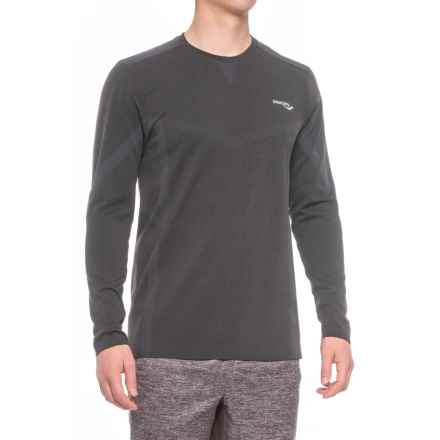 Saucony Active T-Shirt - Seamless Sides, Long Sleeve (For Men) in Carbon Heather - Closeouts