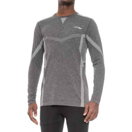 Saucony Active T-Shirt - Seamless Sides, Long Sleeve (For Men) in Light Grey Heather - Closeouts