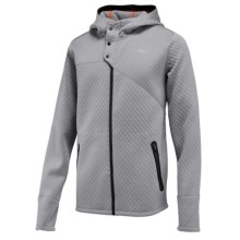 Saucony Aerospacer Hooded Jacket - Full Zip, Long Sleeve (For Men) in Dark Grey Heather - Closeouts