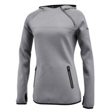 Saucony Aerospacer Hoodie - Off-Center Zip (For Women) in Dark Grey Heather - Closeouts