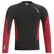 Saucony Amp Pro2 Training Compression Shirt - Long Sleeve (For Men) in Black - Closeouts