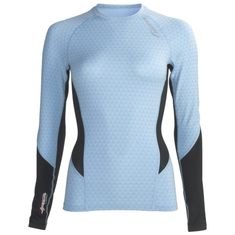 Saucony Amp Pro2 Training Compression Shirt - Long Sleeve (For Women) in Breeze