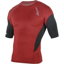 Saucony Amp Pro2 Training Compression Shirt - Short Sleeve (For Men) in Racer Red - Closeouts
