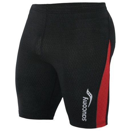 Saucony Amp Pro2 Training Compression Shorts (For Men) in Black