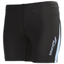 Saucony Amp Pro2 Training Compression Shorts (For Women) in Black - Closeouts