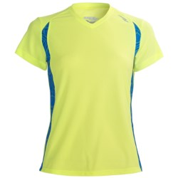 Saucony Axiom Printed Shirt - UPF 25, Short Sleeve (For Women) in Nimble Green