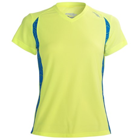Saucony Axiom Printed Shirt - UPF 25, Short Sleeve (For Women) in Ion