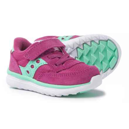 Saucony Baby Jazz Lite Sneakers (For Toddler Girls) in Pink/Turquoise - Closeouts