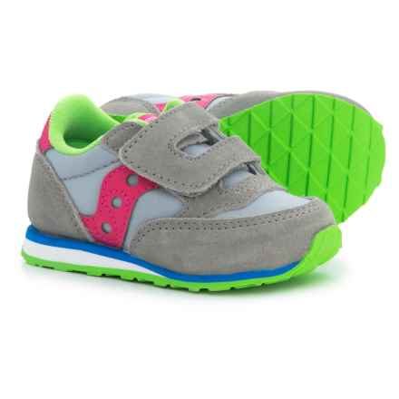 Saucony Baby Jazz Sneakers (For Toddlers) in Grey/Pink - Closeouts