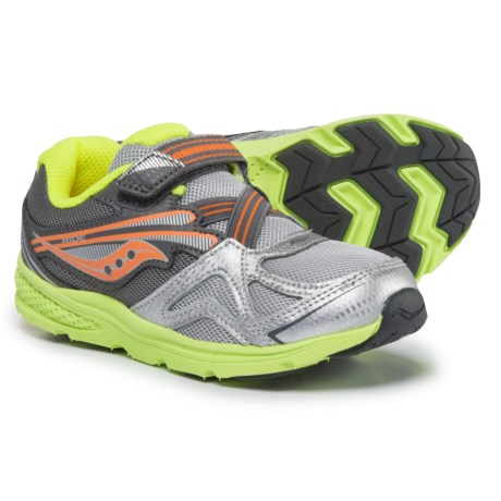Saucony Baby Ride Sneakers (For Toddler Boys) in Grey/Orange/Citron