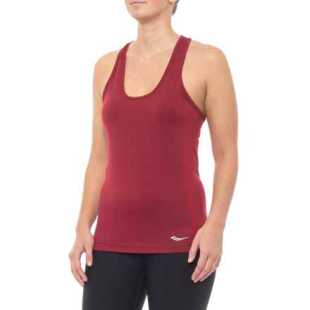 2867306bb218b Saucony Bell Lap Seamless Tank Top - Racerback (For Women) in Beet Red -