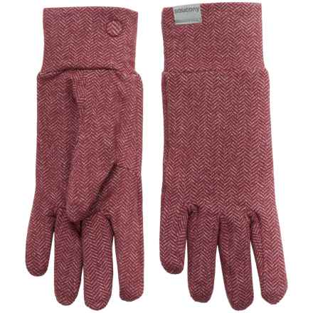 Saucony Brisk Gloves (For Women) in Bordeaux - Closeouts