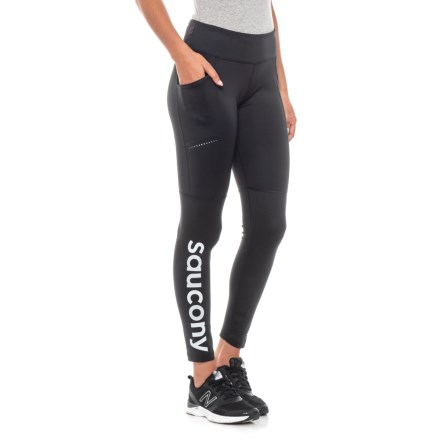on sale f712e 46872 Saucony Bullet 2.0 Running Tights (For Women) in Black - Closeouts