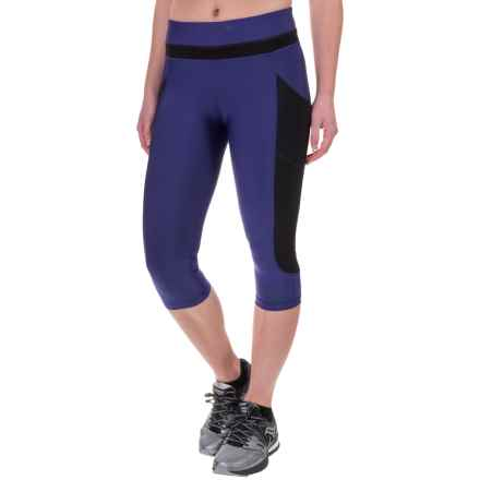 Saucony Bullet Capris - Stretch Nylon (For Women) in Indigo - Closeouts