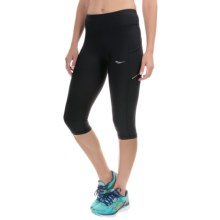 Saucony Bullet Running Capris (For Women) in Black - Closeouts