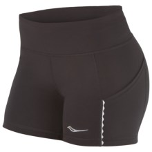 Saucony Bullet Tight Running Shorts (For Women) in Black - Closeouts