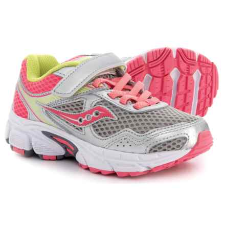 Saucony Cohesion 10 Running Shoes (For Girls) in Grey/Coral - Closeouts