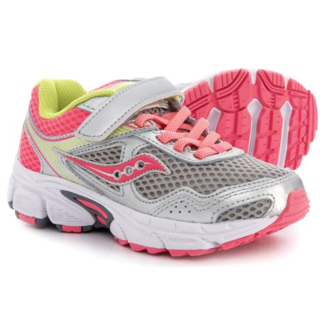 Saucony Cohesion 10 Running Shoes (For Girls) in Grey/Coral