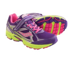 Saucony Cohesion 7 A/C Running Shoes (For Big Girls) in Purple/Pink/Citron - Closeouts