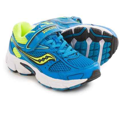 Saucony Cohesion 8 A/C Running Shoes (For Little and Big Kids) in Blue/Citron - Closeouts