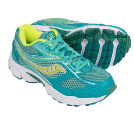 Saucony Cohesion 8 Running Sneakers (For Little Kids) in Blue/Lime - Closeouts