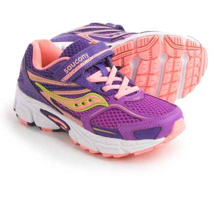Saucony Cohesion 9 Athletic Shoes (For Little and Big Girls) in Purple - Closeouts