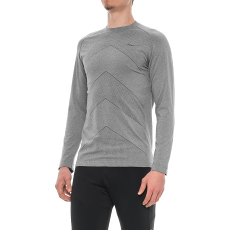 Saucony Dash Seamless Shirt - Long Sleeve (For Men) in Carbon