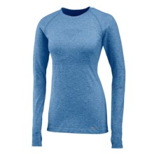 Saucony Dash Seamless Shirt - Long Sleeve (For Women) in Marine Blue Heather - Closeouts