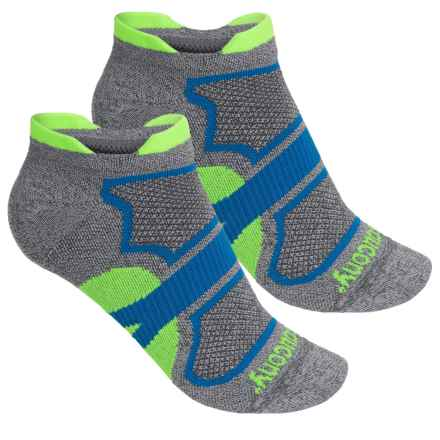 Saucony Dash Superlite Double-Tab Socks - 2-Pack, Below the Ankle (For Men and Women) in Dark Grey - Closeouts